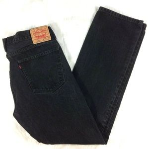 Levi's 36x36 Faded Black 505 Jeans Straight Fit